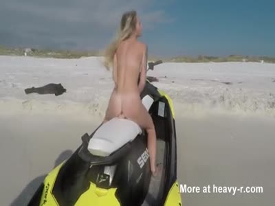 Blonde Toying Pussy On Jetski