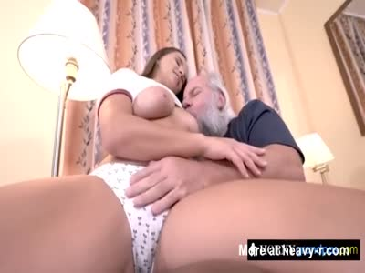 Smoking hot cutie craving for old cock