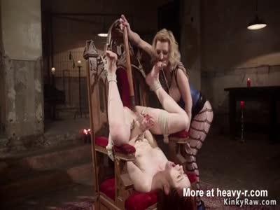 Cruel Mistress Spanks Redhead