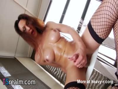 Hot Tranny Ana Hickiman Having Fun Alone
