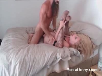 Bearded Man Gives Her Pleasure