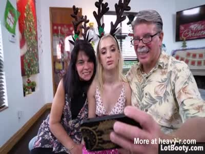 Big ass blonde Anastasia Knight fucking with Santa Claus