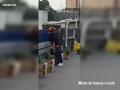 Couple Fucking At Train Station