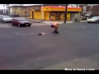 Nasty Ass Woman Fingering Herself In The Street