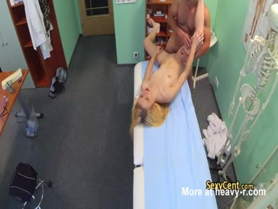 Blonde Creampied By Doctor