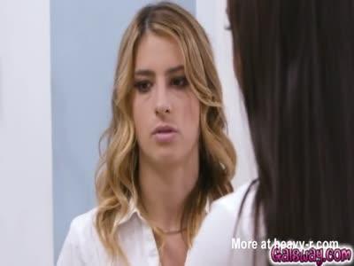 Alina diking in Kristen's room