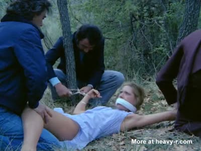 Kidnapped Blonde is tied up and gangraped in the woods [8:35x432p]->