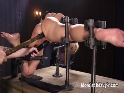 Toying Perfect Ass Bound Blonde