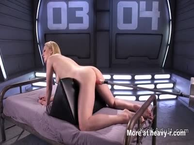 Cute Ass Blonde On Fucking Machine