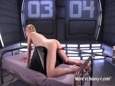 Cute Ass Blonde On Fucking Machine