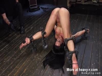 Caning In Bondage Device