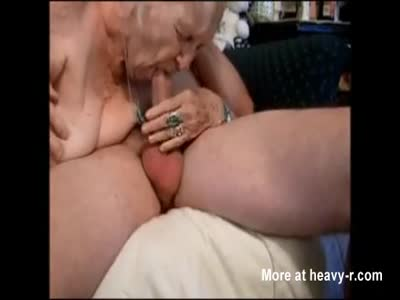 84yo Granny Sucking Cock