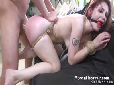 Rough Anal For Clamped Nipples Redhead