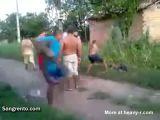 Brazilian Robber Brutally Beaten